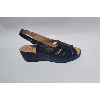 Sandale Femei 0654 Negru si Maro