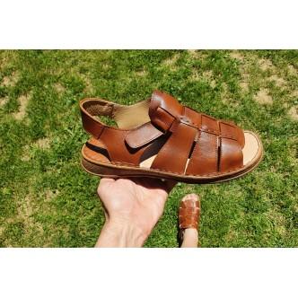 Sandale Piele Naturala Barbatesti 0112 Maro