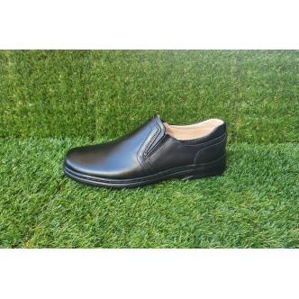 Pantofi Barbatesti Piele Naturala 3212 Negru Elastic