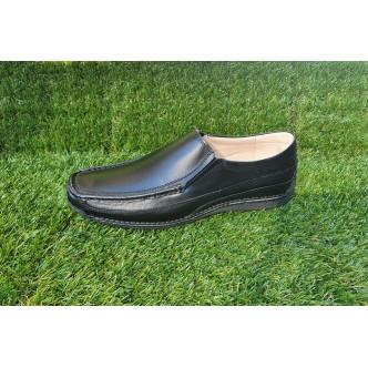 Pantofi Barbatesti Piele Naturala 0091 Negru Elastic