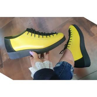 Pantofi Din Piele Naturala 9776 Galben