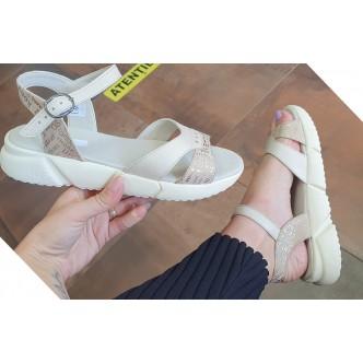 Sandale Piele Naturala 031 bej