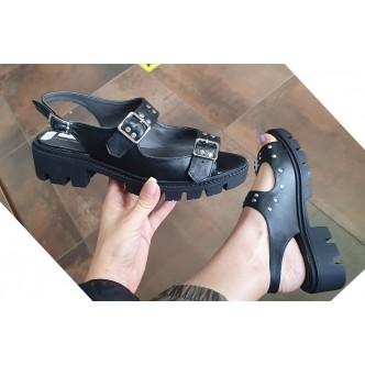 Sandale Piele Naturala 0022 Negru