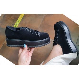 Pantofi Din Piele Ecologica Alana 889 Negru siret