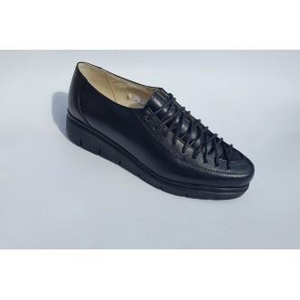Pantofi Piele Siret Varf Naturala 98 Negru
