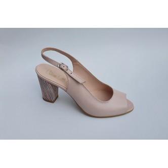 Sandale Piele Naturala 986 Roz Pudra