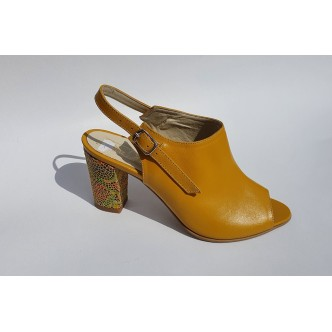 Sandale Dama Piele Naturala 0432 Galben