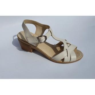 Sandale Dama Angel 566 Negru si Bej
