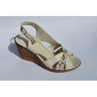 Sandale Piele Naturala CrissDeea 134 Bej